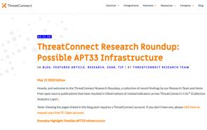 ThreatConnect APT33 Infrastructure