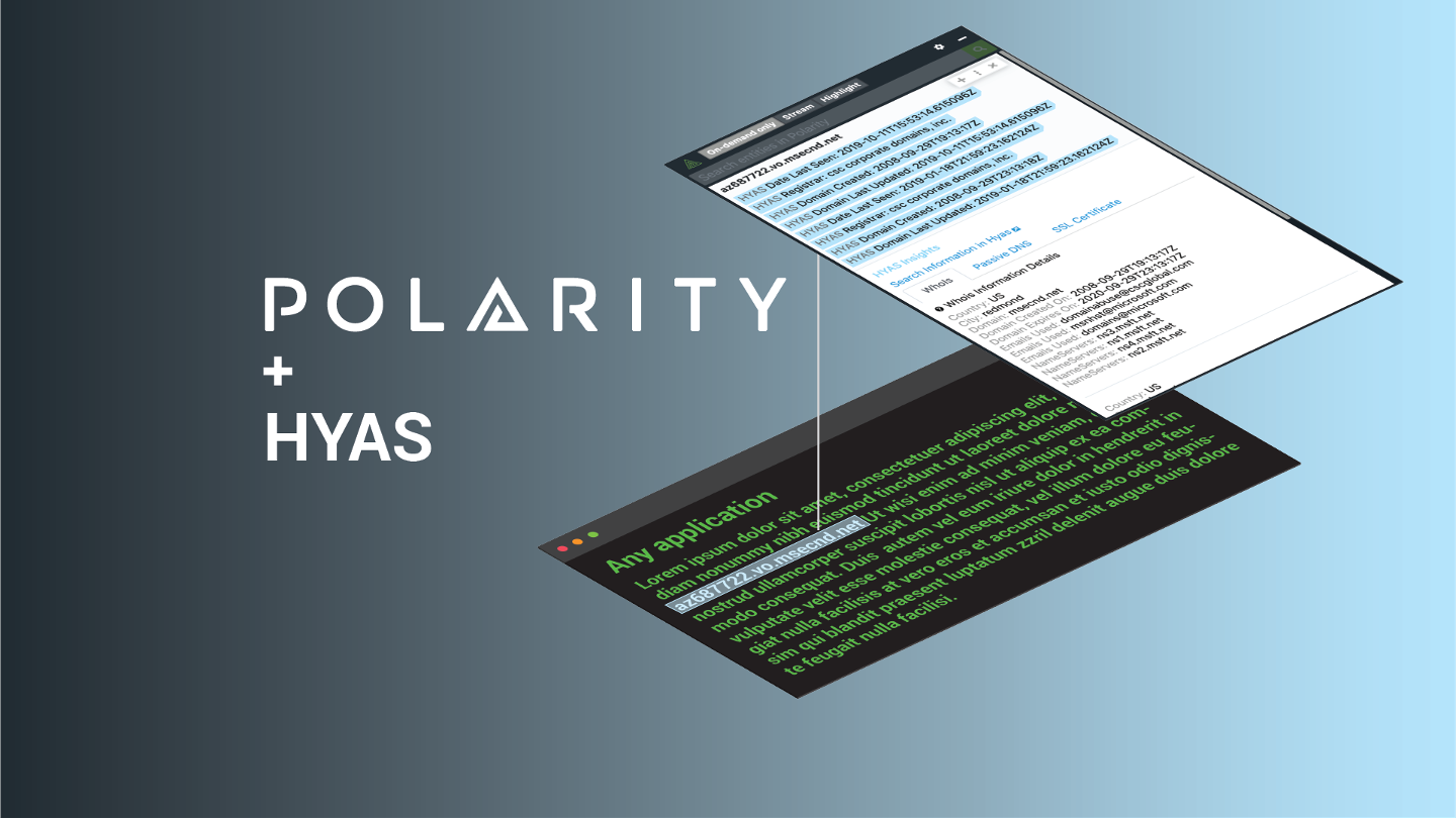 Immediately Triage Threats with the Polarity-HYAS Integration