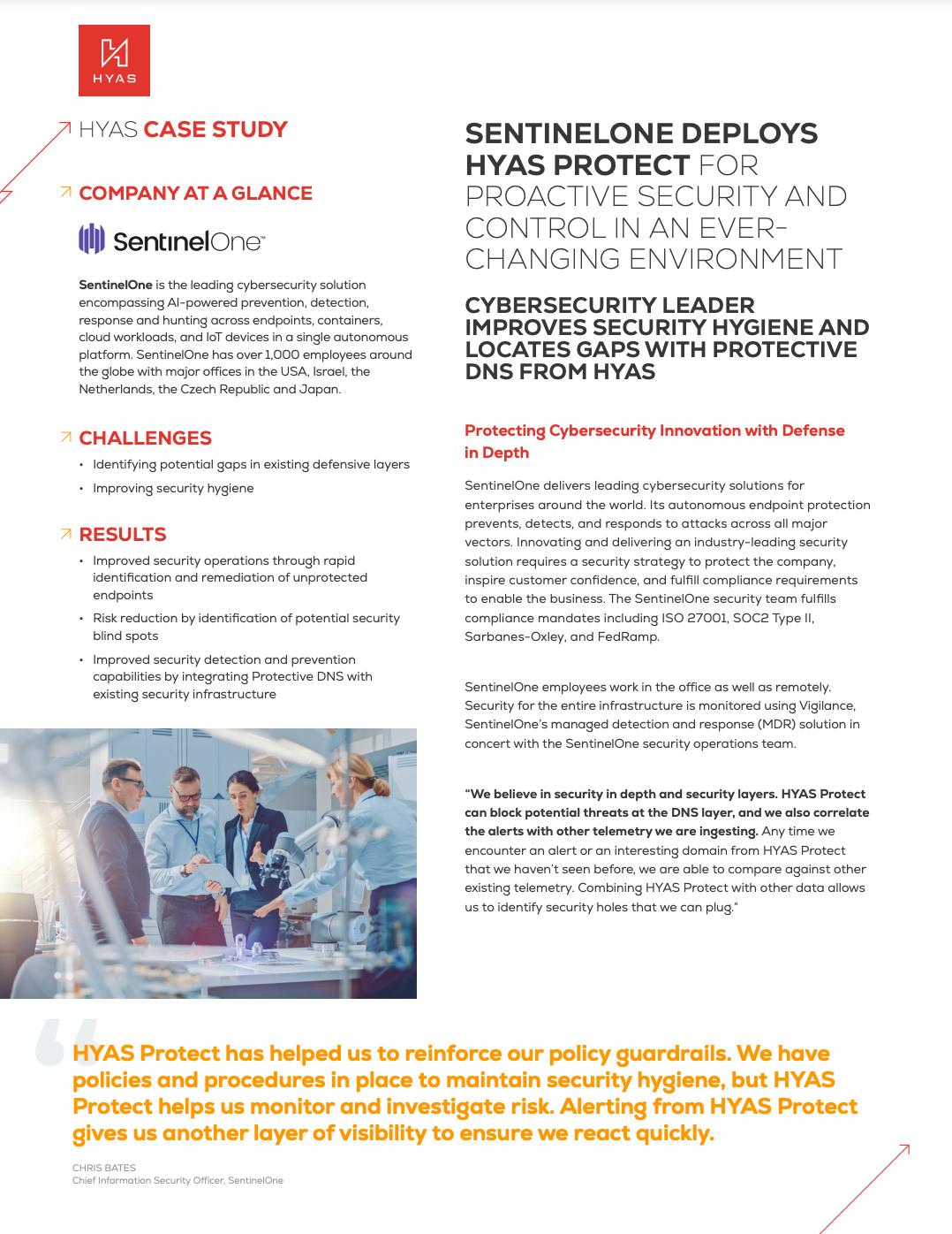 SentinelOne HYAS Protect Case Study